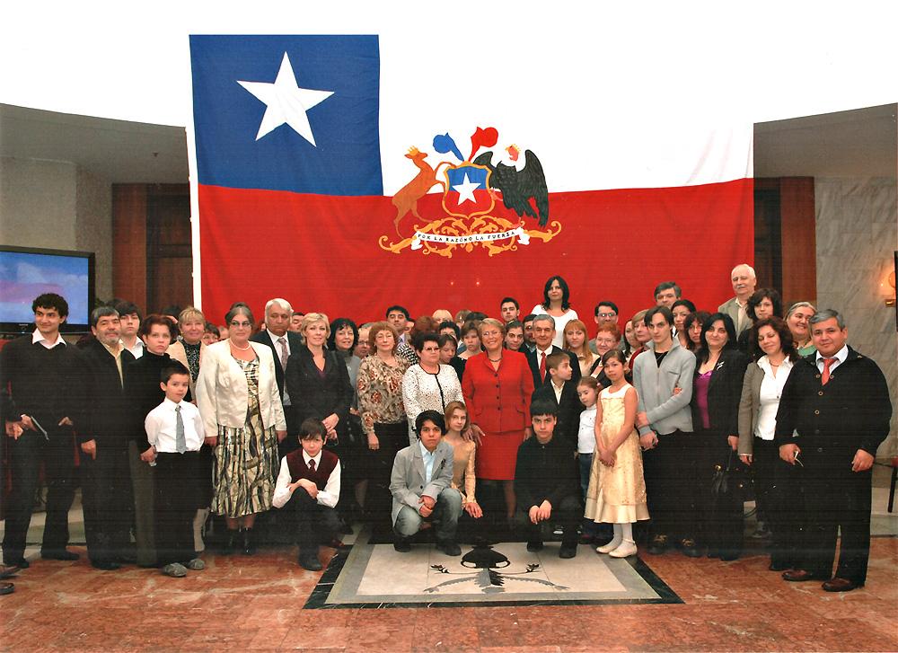 Michelle Bachelet con la comunidad chilena en Rusia 2009