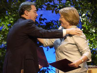 Bachelet y Uribe (TLC Colombia Chile 2006)