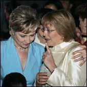 En la Gala femenina en USA - Homenaje a Bachelet