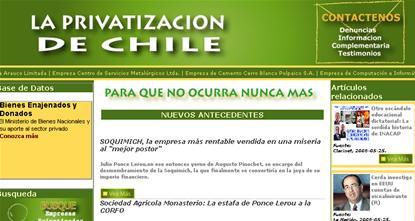 Sobre las privatizaciones en Chile