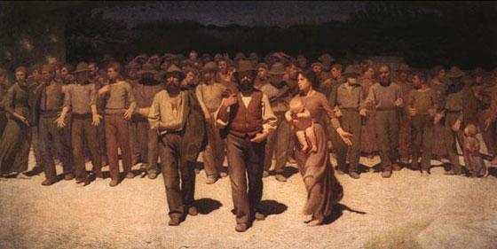 """Pellizza da Volpedo, Il Quarto Stato, 1901, Milano, Civica Galleria d'Arte Moderna - Filme """"1900 - Novecento"""""""