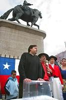 Voto simbólico de chilenos en España