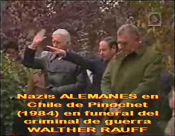 Nazis alemanes en tiempos de Pinochet en el entierro del criminal de guerra Walther Rauff