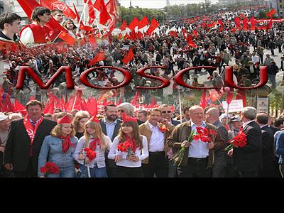 Así fue este Primero de Mayo opositor en Rusia.   Cada año con más juventud...