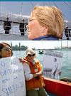La Esmeralda: Agrupaciones de Derechos Humanos protestan en zarpe del buque