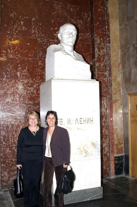 Michelle Bachelet junto a Lenin en el Metro